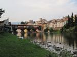 Bassano del Grappa with its famous bridge known as Ponte degli Alpini