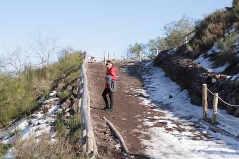 Me climbing Vesuvio
