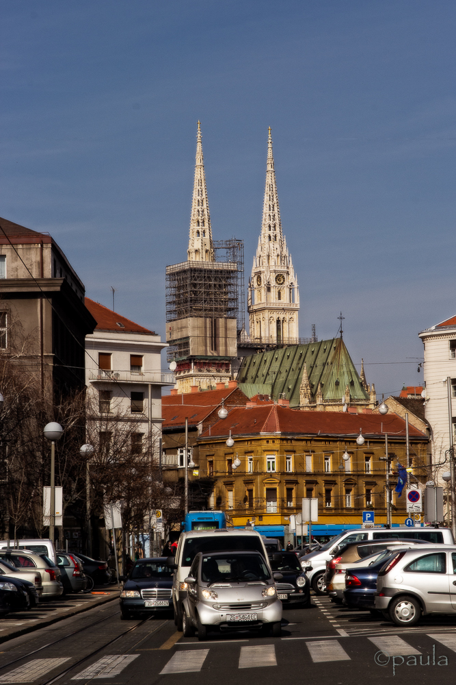 A view of Zagreb Cathedral
