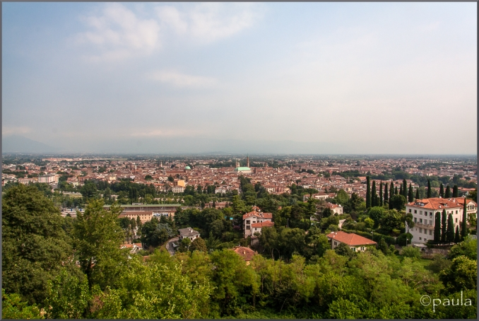 A panoramic view of Vicenza as seen from Monte Berico