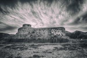 bunker_b&w_analog