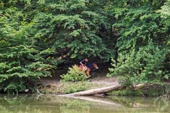 Horseback riding at lake 5