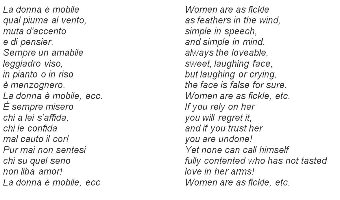 donna e mobile